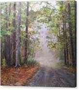 Misty Morning Road Canvas Print