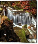 Misty Morning Waterfall Canvas Print