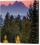 Misty Mountain Sunset Canvas Print