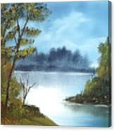 Misty River Canvas Print