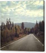 Misty Roads Canvas Print