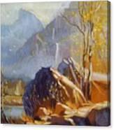 Misty Rocks Canvas Print