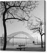 Misty Sydney Morning Canvas Print