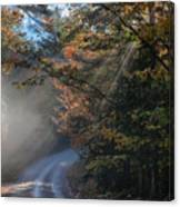 Misty Turn In The Road Canvas Print