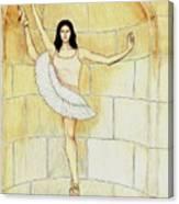 Misty Vi - La Ballet Statuette Canvas Print