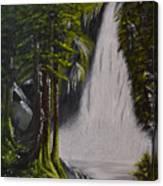 Misty Waterfall Canvas Print