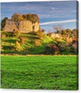 Mitford Castle Beside River Wansbeck Canvas Print