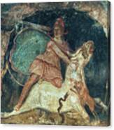 Mithras Killing The Bull - To License For Professional Use Visit Granger.com Canvas Print