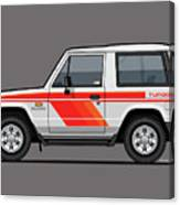 Mitsubishi Pajero Montero Shogun 3 Door Turbo Diesel Canvas Print