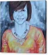 Mix Media Portrait Canvas Print