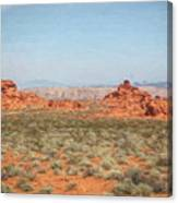 Mix Media Valley Of Fire  Canvas Print
