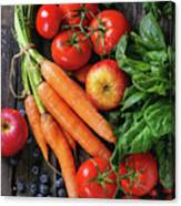 Mix Of Fruits, Vegetables And Berries Canvas Print