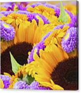 Mixed Autumn Flowers Canvas Print