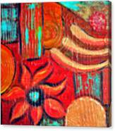 Mixed Media Abstract  Canvas Print