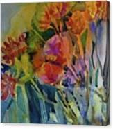 Mixed Media Flowers Canvas Print