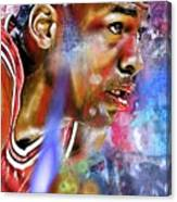 Mj Painted Canvas Print