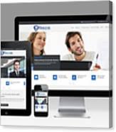 Mjollnir Group Inc - Responsive Website Canvas Print
