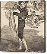 "Mlle. Victorine In The Costume Of An ""espada""(l'espada) Canvas Print"