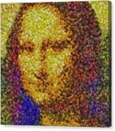 Mm Candies Mona Lisa Canvas Print