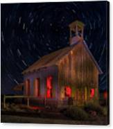 Moab Schoolhouse Star Trails Canvas Print