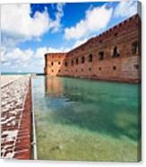 Moat And Walls Of Fort Jefferson Canvas Print