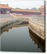 Moat Forbidden City Beijing Canvas Print