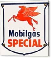 Mobil Gas Vintage Sign Canvas Print