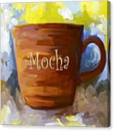 Mocha Coffee Cup Canvas Print