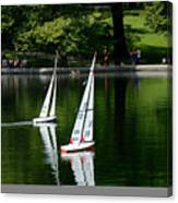 Model Boats Central Park New York Canvas Print