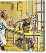 Model Kitchen, 1900s French Postcard Canvas Print