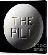 Model Of Contraceptive Pill, C.1970 Canvas Print