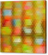 Modern Abstract Mosaic Color Combination 4 Canvas Print
