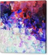 Modern Abstract Painting In Blue Canvas Print