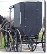 Modern Amish Horse And Buggy Canvas Print