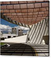 Modern Architecture Of Ismaili Centre Entrance With Aga Khan Mus Canvas Print