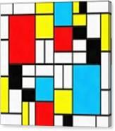Modern Art Square Canvas Print