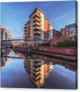 Modern Canal Living Canvas Print