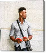 Modern College Student In New York Canvas Print