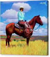 Modern Cowboy Canvas Print