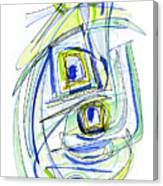 Modern Drawing Forty Canvas Print