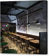 Modern Industrial Contemporary Interior Design Restaurant Canvas Print
