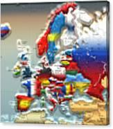 Modern Portrait Of Modern Europe - 3d Canvas Print