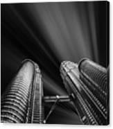 Modern Skyscraper Black And White Picture Canvas Print
