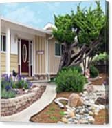 Modern Suburban House Hayward California 26 Canvas Print