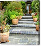 Modern Suburban House With Succulent Garden Hayward California 34 Canvas Print