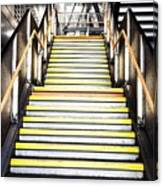 Modern Subway Steps In London Canary Wharf District Canvas Print