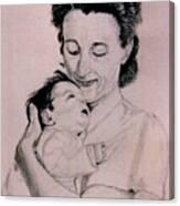 Modona And Baby Canvas Print