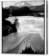 Moel Siabod Viewed From Llyn Glangors Lake Snowdonia Canvas Print