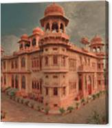 Mohatta Palace At Sunset Canvas Print