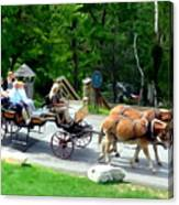 Mohonk Carriage Tour Canvas Print
